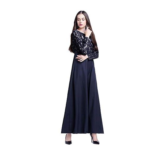 NPRADLA Large Falda Mujeres Musulmanas Sueltas Color sólido Bata ...