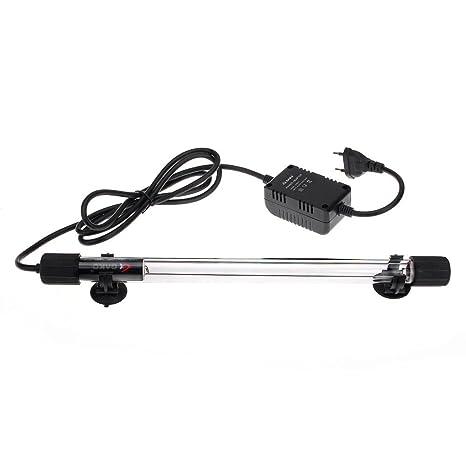 fitTek® FACILLA Acuario Tira Bombilla Tubo Esterilizador Lámpara 10W UV UVC para Pecera Piscina 220