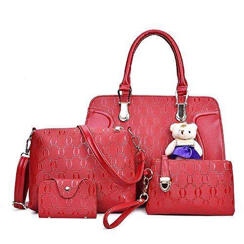 Aoligei Sac à main féminin de cinq paquet sac ours de bébé unique épaule Lady G