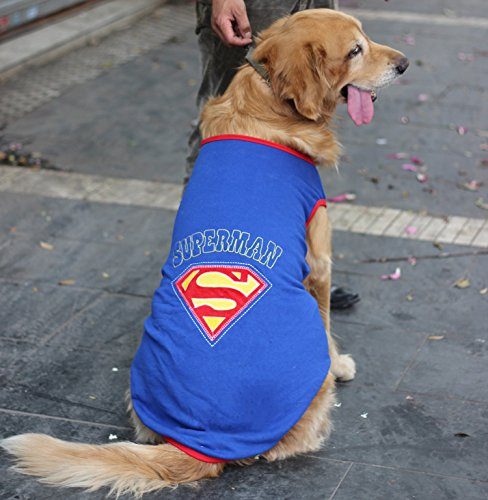 [Colorfulhouse Superman Pet Costume for Large Dogs Dog Vest Costume (XXL (Chest 37