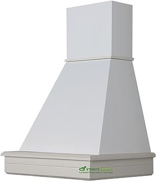 Cappa cocina pared de madera 60 rústica mod.Stock-fresno blanco-cono color blanco: Amazon.es: Hogar