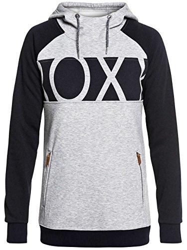Roxy Xs Grey Heather Felpa Warm Cappuccio Con Donna xcyWSnOx7