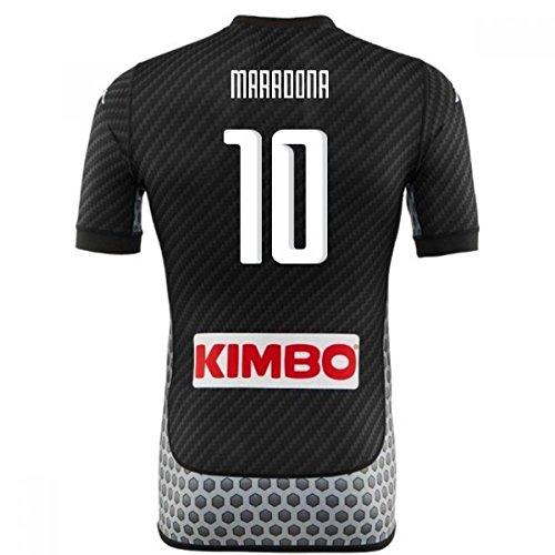 辞任するシャンプー統治可能2017-2018 Napoli Kappa 4th Shirt (Maradona 10)