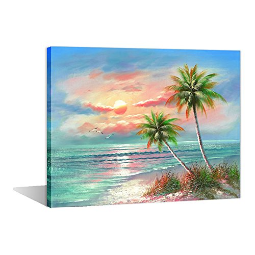 Paint by Numbers 16 x 20 inch Canvas Art Kits DIY Oil Painting for Kids/Students/Adults Beginner Wall Decorative Painting, Seaside View(Wooden Framed)