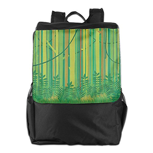 Camping Men HSVCUY Women For Backpack Shoulder Adjustable Storage Bamboo Personalized Travel Dayback Strap Green Outdoors School And wFFr6Iaxgq