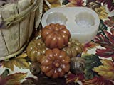 Pumpkin Medium Tarts 2 Cavity Silicone Mold 5282 Food-Soap-Candle-Resin-Flexible
