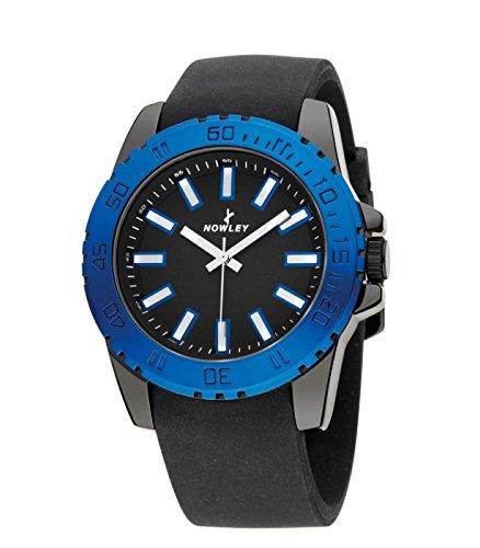 Reloj NOWLEY 8-5276-0-3 - Reloj mujer 3 atm con cristal mineral y correa de caucho negra: Amazon.es: Relojes