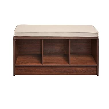 ClosetMaid 1309 Cubeicals 3-Cube Storage Bench, Dark Cherry