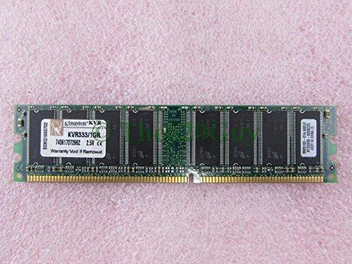 (Kingston KVR333/1GR 1GB PC2700U DDR 333 184Pin Non-ECC Unbuffered Desktop Memory)