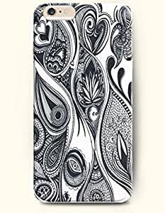 SevenArc Apple iPhone 6 Plus 5.5' 5.5 Inches Case Paisley Pattern ( Black and White Buteh Tree )