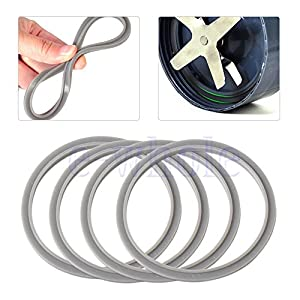 Shalleen 4X Gray Replacement Rubber Gasket Seal Ring for Nutri Bullet Nutribullet 900W