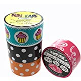 4 Rolls Fancy That! Packing Tape Print Decorative Craft Gift DIY 75ft/ea Cupcake