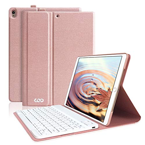 iPad Pro 10.5 Case with Keyboard, COO Detachable Wireless Keyboard Case for iPad Air 2019(3rd Gen) 10.5