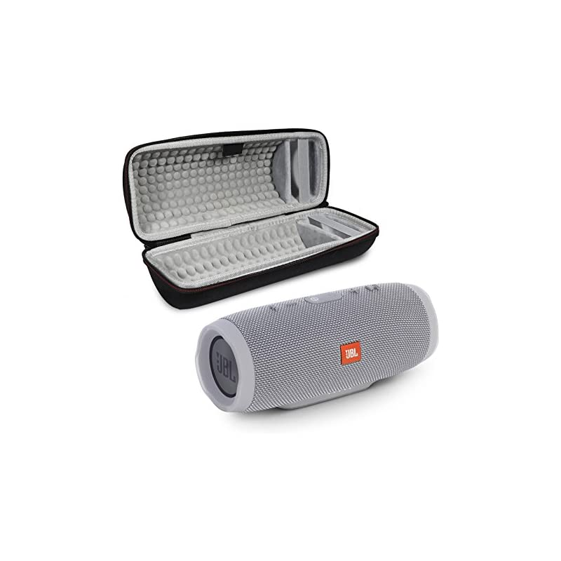 JBL Charge 3 Portable Wireless Bluetooth Speaker Bundle with Protective Case - Grey