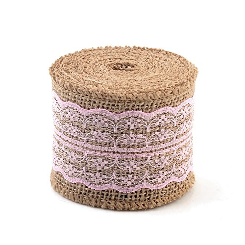 eZthings Decorative Designer Fabric Ribbons for Home Craft Projects and Gift Baskets (3 Yard, Light Pink(2.4