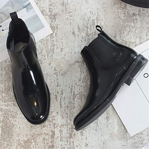 Scarpa Moda Per Donna Bagnato Stivali Impermeabile Da Caviglia Le Chelsea Nero Donne Piatto Tpv1Zqx