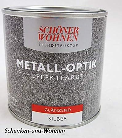 Trendstruktur Metall Optik Effektfarbe Silber Glanzend 375 Ml Amazon De Baumarkt