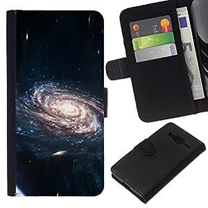 LECELL--Cuero de la tarjeta la carpeta del tirón Smartphone Slots Protección Holder For Samsung Galaxy Core Prime -- Espacio Galaxy --