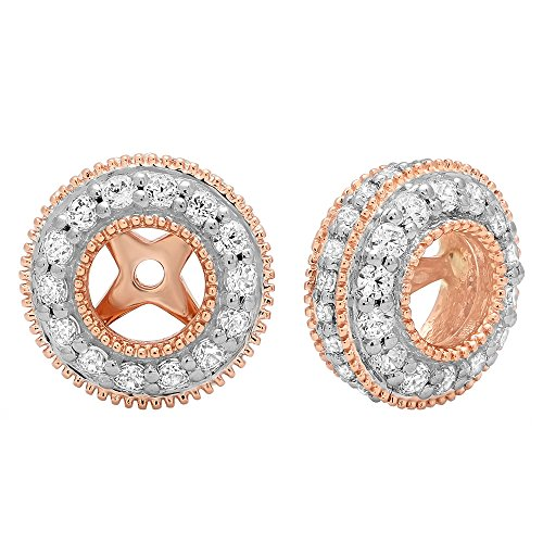 31c1b0e2c 1.05 Carat (ctw) 10K Gold Round Cubic Zirconia Removable Jackets For Stud  Earrings 1. Tap to expand