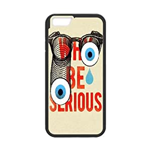 IPhone 6 Plus Case Why be Serious, [Black]
