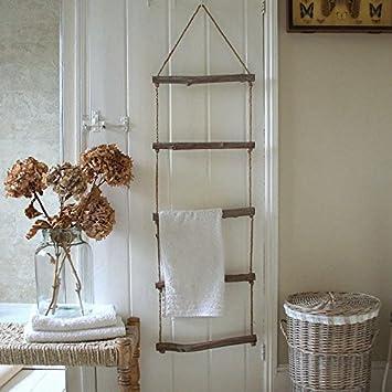 Home Organisation Shabby Chic Holz-Strickleiter ...