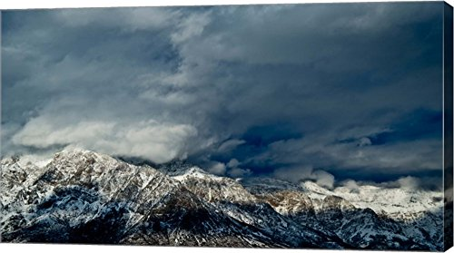Clouds Over The Wasatch Mountains  Utah  Usa By Panoramic Images Canvas Art Wall Picture  Gallery Wrapped With Image Around Edge  44 X 25 Inches