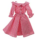 MonkeyJack NEW 1/4 BJD Clothes Country Style Red Plaid Dress for BJD Dollfie SOOM Doll