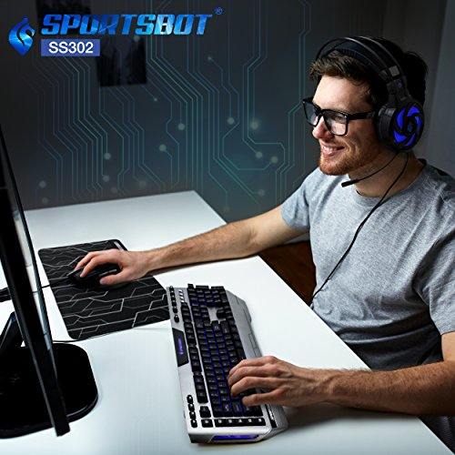 51kQELF2XiL - SportsBot-SS302-4-in-1-LED-Gaming-Over-Ear-Headset-Headphone-Keyboard-Mouse-Mouse-Pad-Combo-Set-w-6-Programmable-Macro-Keys-3-Macro-Modes-40mm-Speaker-Driver-Microphone