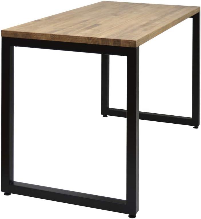 DS Dropshipping Table de Bureau Icub BigWood Style Industriel Vintage Bois 3cm 60x120 73cm Noir
