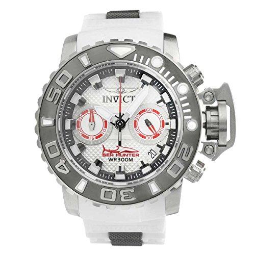 Invicta Men's Sea Hunter White Polyurethane Band Steel Case Swiss Quartz Analog Watch 20473