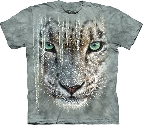 The Mountain Men's Icicle Snow Leopard T-Shirt, Green, Large