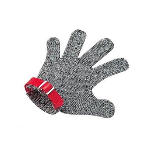 AS12821 ニロフレックス メッシュ手袋5本指 M M5L-EF 左手用(赤) B00XKRRINW