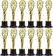 Juvale Pack of 12 Mini Award Trophies - Plastic Movie Film Buff Trophy - Trophies for Kids - Great for Teacher