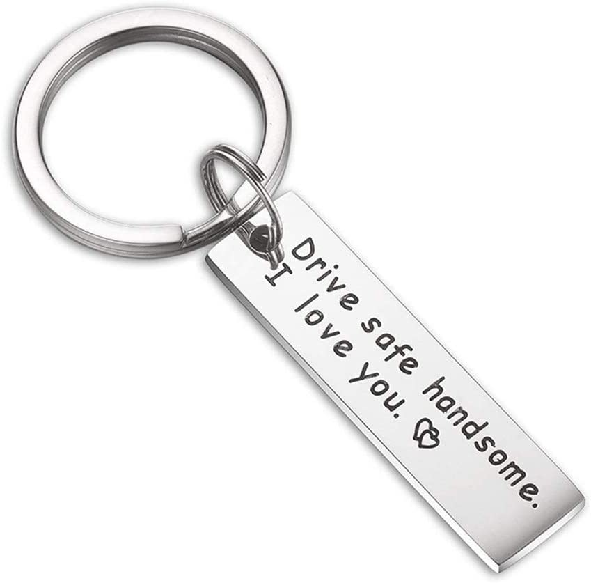 1PC Keychain Key Ring Car Truck Key Chain Drive Safe Handsome I Love You Gift