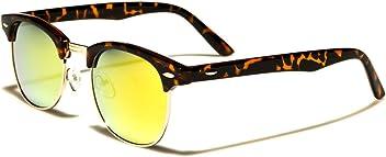f7936fe4eb8 Mirozi Unisex Tortoise Pattern Half-Frame Horn Rimmed Wayfarer Mirror Lens  Retro Sunglasses
