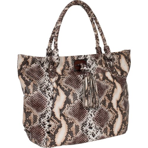 Elliott Lucca Cordoba Large Work Tote,Coffee Exotic,One Size, Bags Central