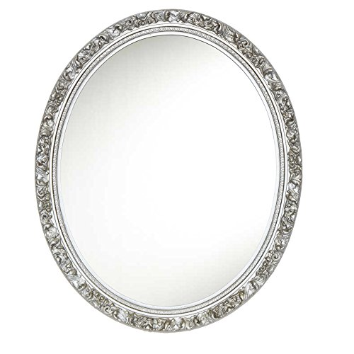 Hickory Manor House Baroque Oval Mirror/Gilt Silver (Gilt Mirror Silver)