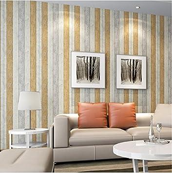 Vliestapete Mediterraner Stil Nostalgisches Papiertapete Holz Wohnzimmer  Schlafzimmer TV Retro Vertikal Gestreift Tapete Total 6 Farben