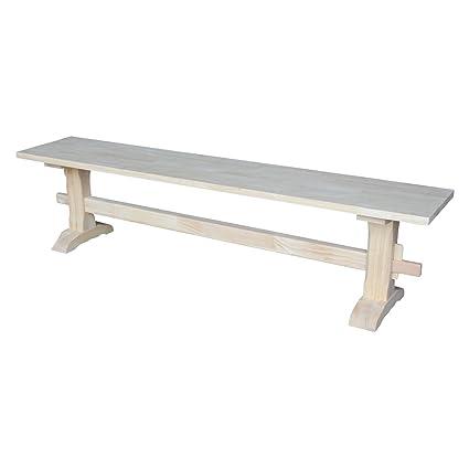 Etonnant Amazon.com: International Concepts Unfinished Trestle Bench: Kitchen U0026  Dining