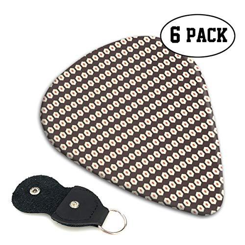 Guitar Picks 6 pcs,Hexagonal Comb Design Nested Shaped Tile Motifs Pattern Artwork ()