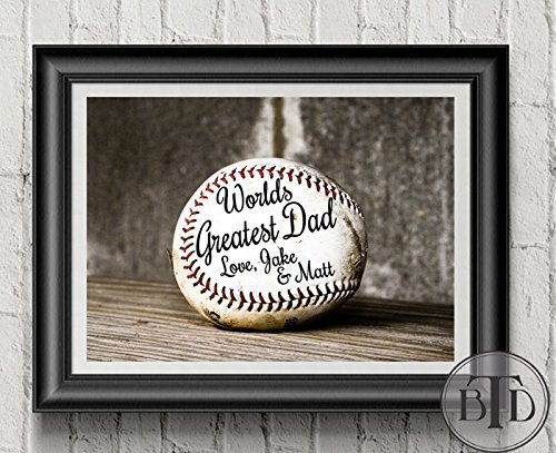 Personalized Baseball Gift for Dad Fathers Day Gift Baseball Fan Coach Gift