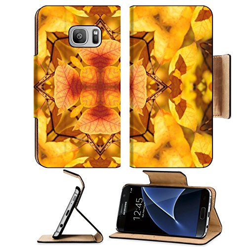 Liili Premium Samsung Galaxy S7 Flip Pu Leather Wallet Case kaleidoscope of autumn leaves Photo 15323431 Simple Snap Carrying - Rugs Kaleidoscope Collection