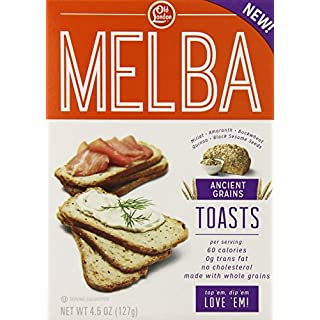 Old London, Melba Toasts, Ancient Grains, 4.5 Ounce (Pack of 12)