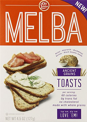 Old London, Melba Toasts, Ancient Grains, 4.5 Ounce (Pack of 12) - Old London Whole Grain