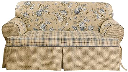 Astonishing Sure Fit Lexington T Cushion Loveseat Slipcover Blue Ncnpc Chair Design For Home Ncnpcorg
