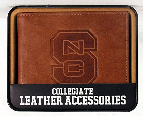 (NCAA North Carolina State Wolfpack Embossed Leather Billfold)