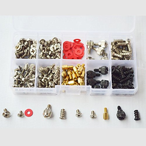DANA FRED 227pcs Personal Computer Screws PC Standoff M3 M5 M6 Phillips Head Assortment Kit for Hard Drive Computer Case Motherboard fan power graphics by DANA FRED (Image #2)