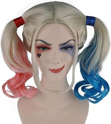 Los adultos Hairdrobe Harley Quinn peluca HD1014: Amazon.es ...