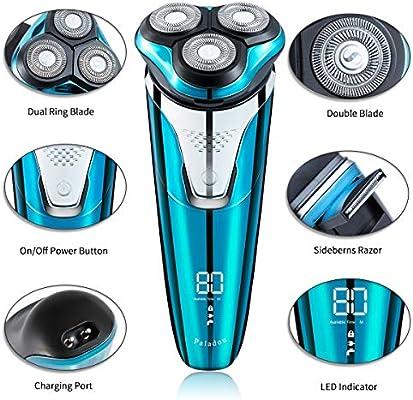 Paladou afeitadora electrica hombre,USB recargable maquina de ...