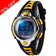 Viliysun Kid Watch Multi Function Digital LED Sport 50M Waterproof Electronic Digital Outdoor Watches Alarm for Boy Girl Children Gift